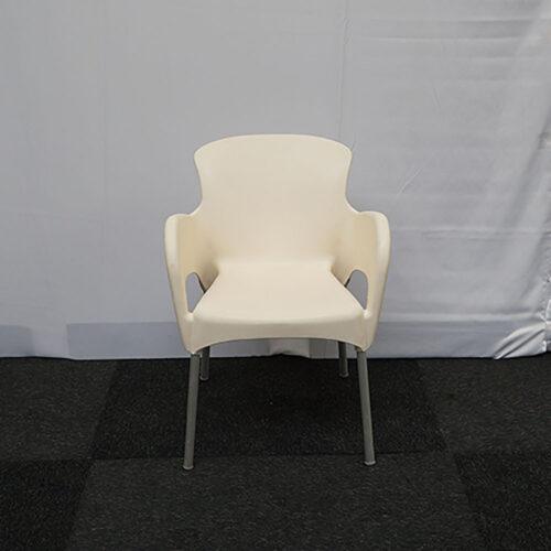 Kuipstoel modern wit